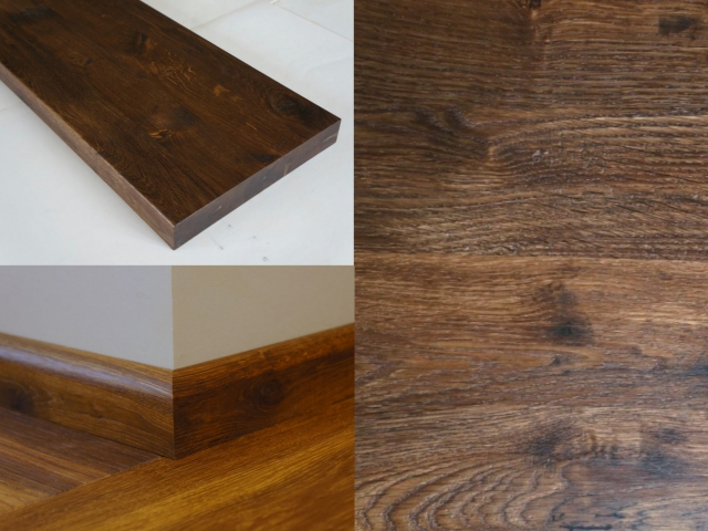 Solid European Oak Stair Treads Winders Untrimmed Front