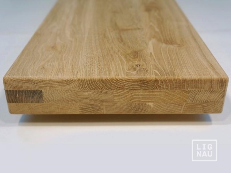 Treppenstufen Holz Unbehandelt ~ 60mm Treppenstufe Trittstufe Eiche massiv Arbeitsplatte Regalböden