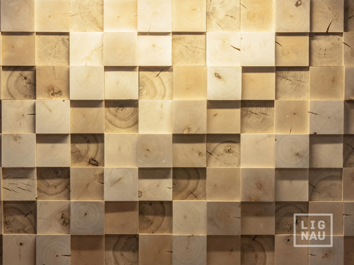 Wall Cladding Wood Paneling End Grain 3d Vintage Planed