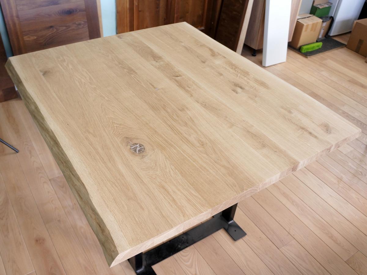 massivholzplatte eiche rustikal tischplatte arbeitsplatte baumkante 2 seitig ebay. Black Bedroom Furniture Sets. Home Design Ideas