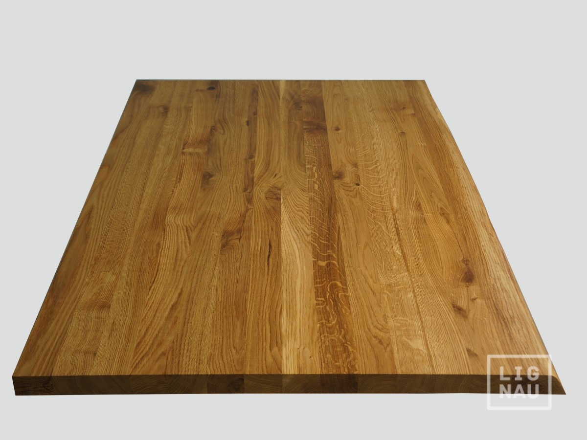 massivholzplatte tischplatte arbeitsplatte eiche rustikal baumkante 40mm ge lt ebay. Black Bedroom Furniture Sets. Home Design Ideas
