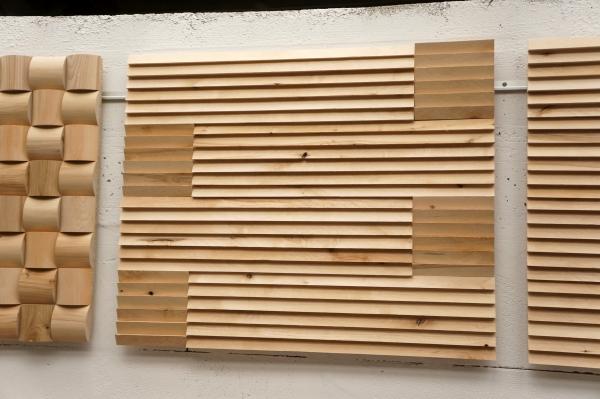 lignau wandverkleidung holzfliesen wand 3d eiche typ ligat. Black Bedroom Furniture Sets. Home Design Ideas