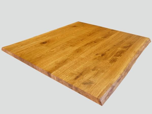 lignau arbeitsplatte massivholzplatte eiche rustikal mit 2 naturbelassenen unbes umten. Black Bedroom Furniture Sets. Home Design Ideas