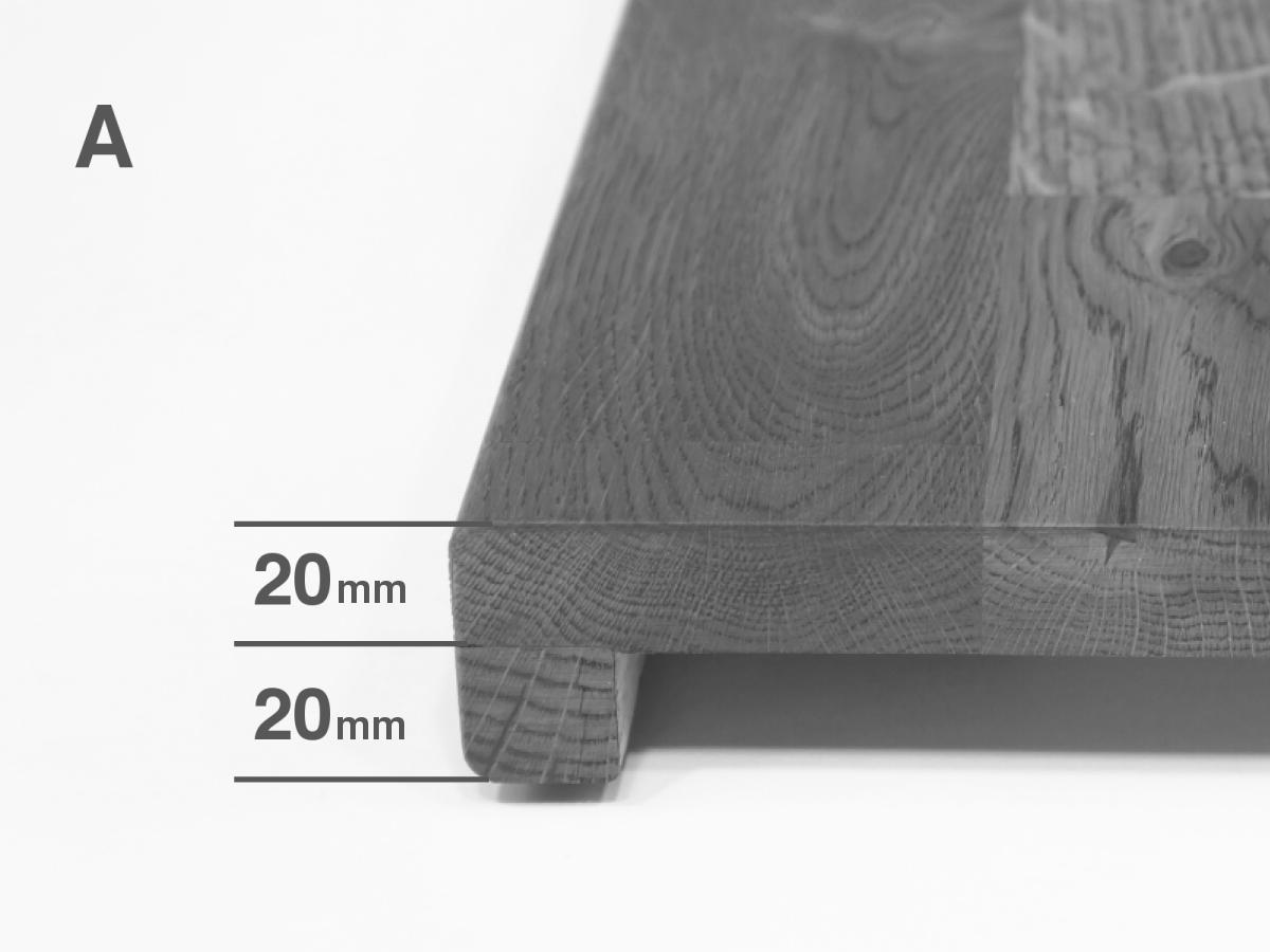 25cm, 90cm Width= Tiefe; Length= L/änge Fensterbank Renovierungsstufe Treppensanierung Treppenstufe Eiche Wildeiche St/ärke 20mm