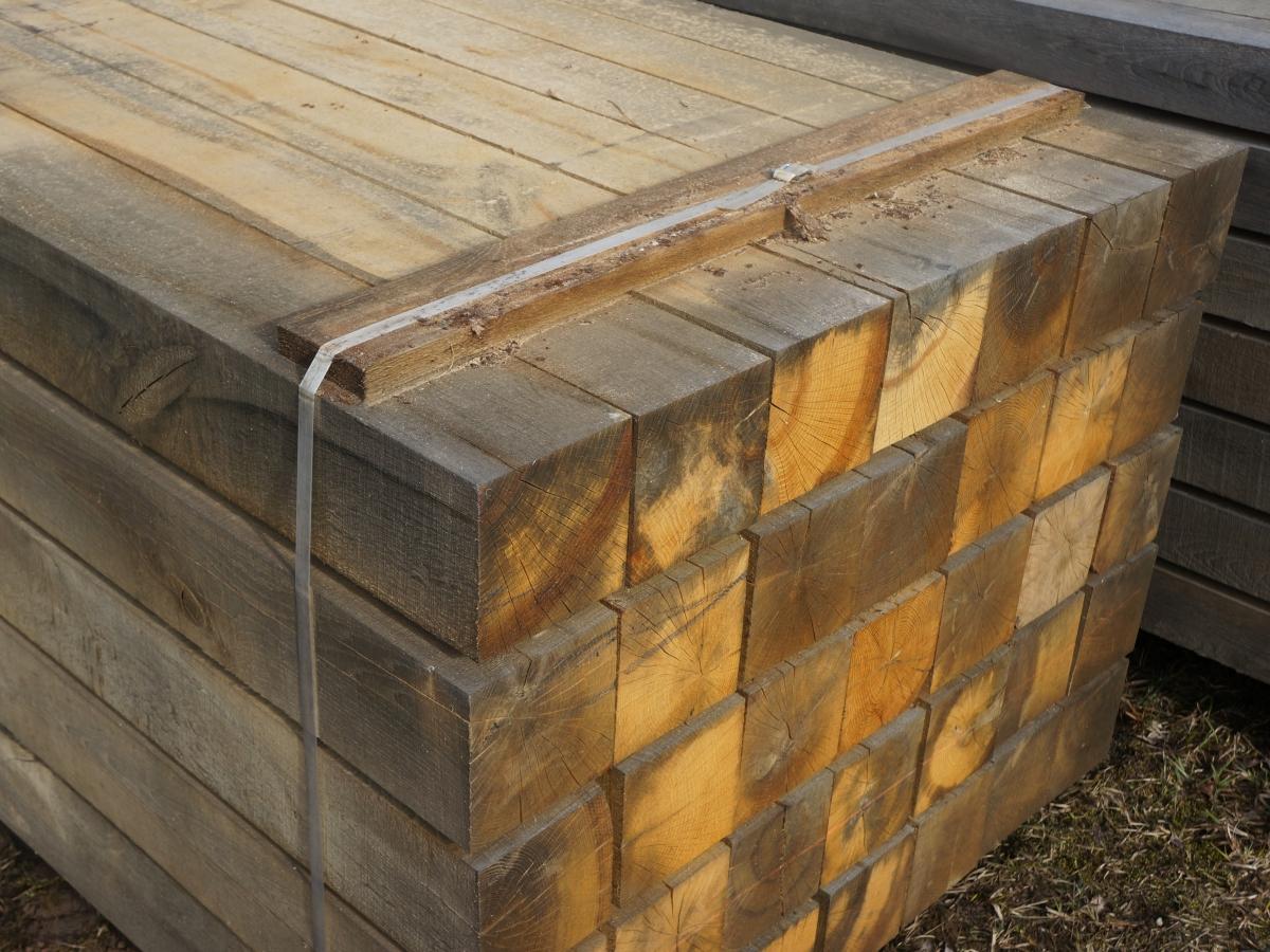 Holzpfosten aus Eichenholz 8x8 x 100 cm Kantholz Eichen Pfosten Holz Pfahl